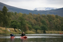 Snow on the Cairngorms at the back