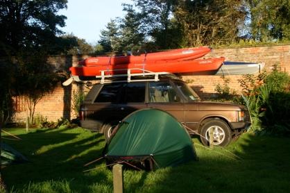 At the campsite in Aberdour