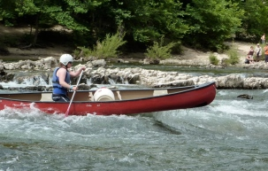 Canoe on the Ardeche