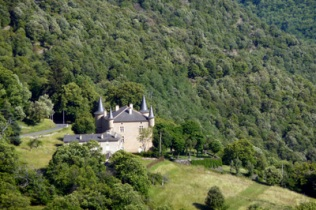 Pointy-roofed house in the Cevennes