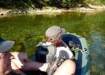 Two-up in the packraft