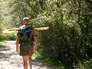 A walk up river before paddling back