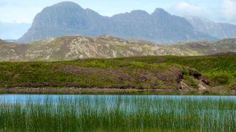Suilven behind Loch Garvie