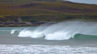 Good surf at Achnahaird