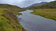 The flowing Uidh between lochs Fionn and V