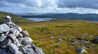 Looking back over Cam Loch to Elphin