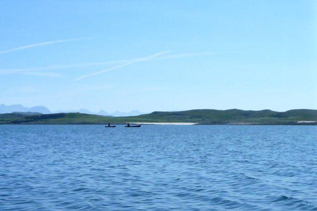 Canoes off Althandu