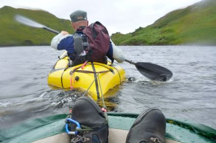 'Are you paddling back there?!'