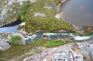 Sluice portage from above