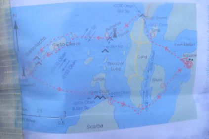 Our route, minus the Garvs