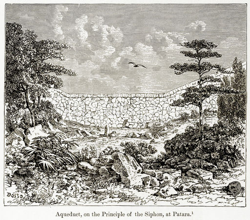 Aqueduct, on the Principle of the Siphon, at Patara