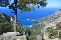 Kabak beach below