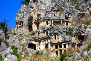 Myra rock tombs