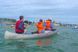 Not so many canoes on the Voga