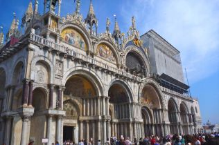 Marble clad basilica of San Marco, the Doge's 'chapel'.