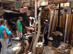 Backstreet 'forcola' workshop (the carved post on which a gondolier pivots his oar)