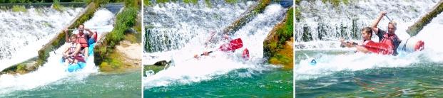 Shooting a chute, Tarn