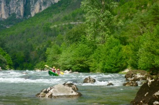The famous Sabiliere rapid – easier in higher water