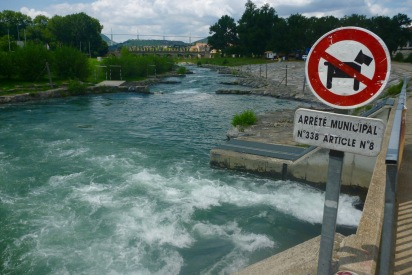 ... and see the easy whitewater course just don the way. Shame would have been a fun finale.