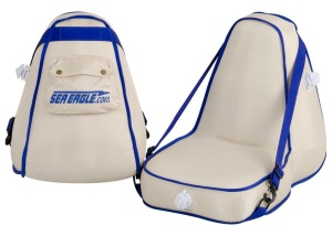 A inflatable seat back which braces off its base won't work unless pressures are very high.